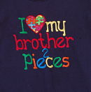 Love My Brother 2 Pieces Awareness for Autism shirt *childrens* (sister/aunt/uncle/cousin)
