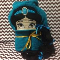 Arabian Princess or Genie  Hooded Towel